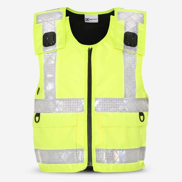Stab Resistant Vest Hi-Viz Yellow Overt Zip