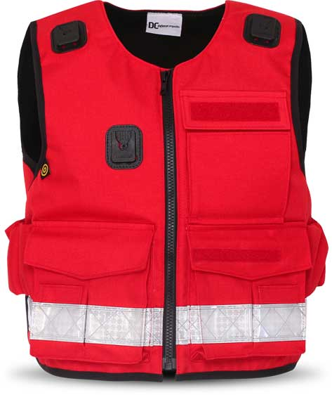 Stab Resistant Vest Overt Red