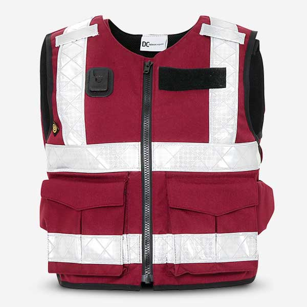 Local Council Overt Stab Vest Burgundy