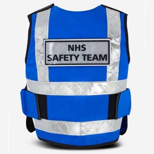 DC NHS Stab Vest Royal Blue Back