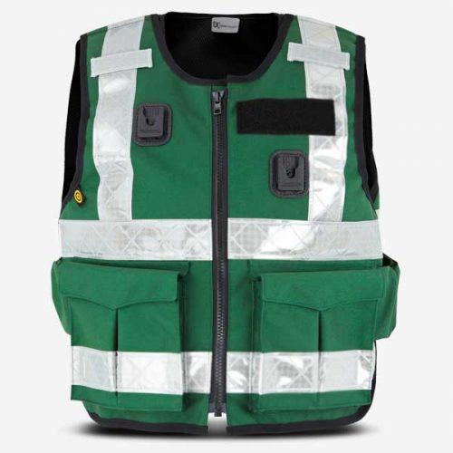 DC Paramedic Stab Vest Green Hi-Viz