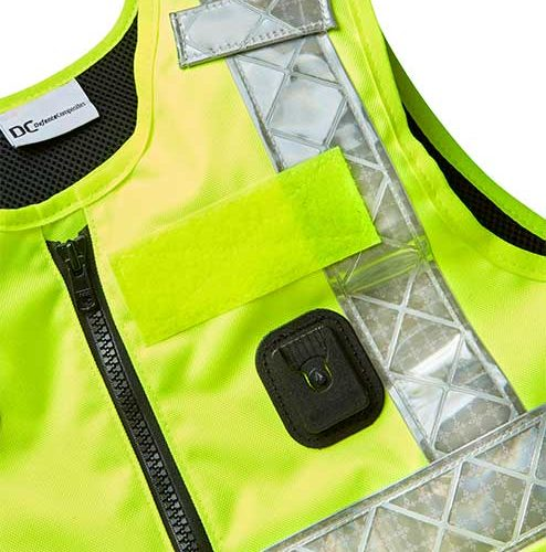 DC Stab Vest Yellow Front Dock-and Velcro