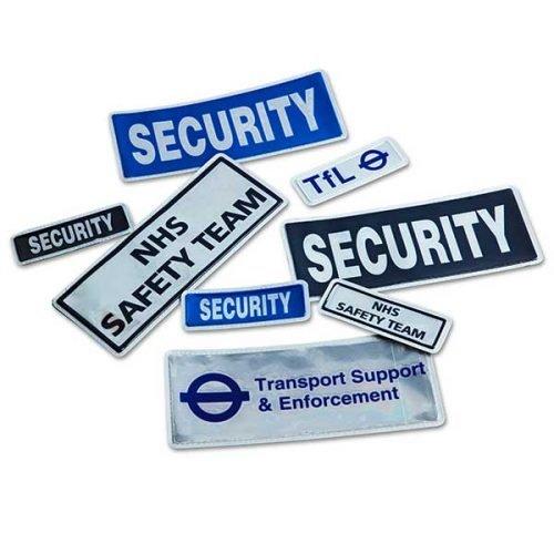 DC Stab vest bespoke customer badges